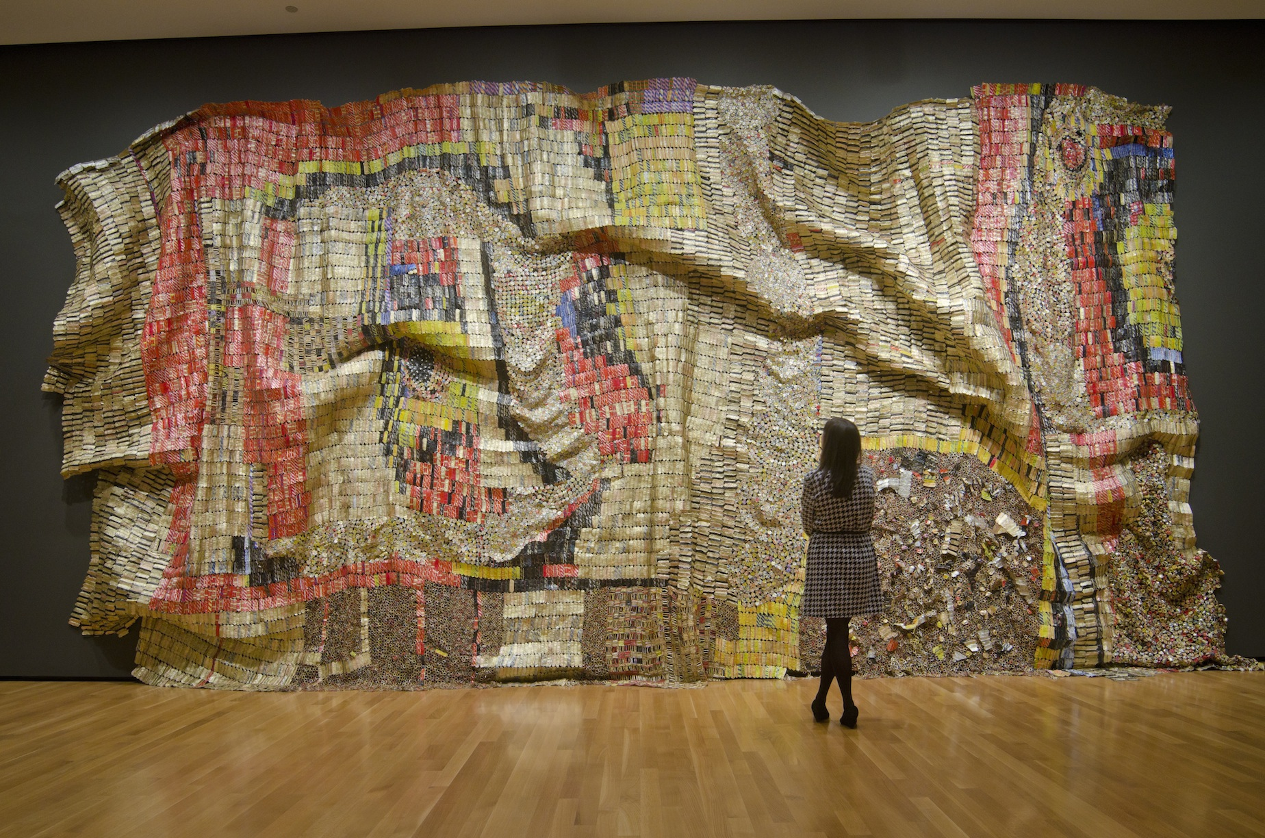 El Anatsui At The Brooklyn Museum on Akron Art Museum