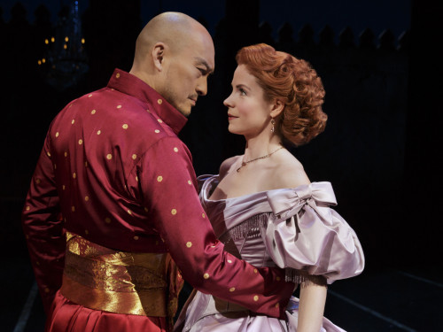 The King and I Kelli O'Hara and Ken Watanabe Bartlett Sher: Director Credit Photo: Paul Kolnik studio@paulkolnik.com nyc 212-362-7778