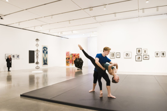 Installation view, Leap Before You Look: Black Mountain College 1933–1957, Institute of Contemporary Art, Boston, 2015. Photo: Liza Voll Photography.